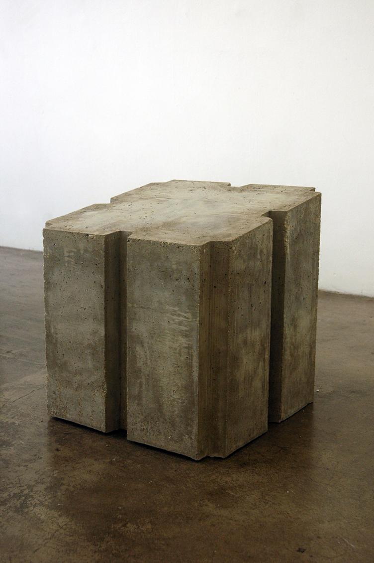 concrete, steel casters